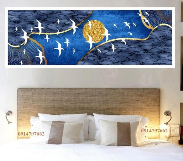 Mẫu tranh kính 3d treo tường phòng ngủ
