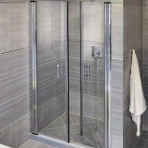 vách kính tắm 2 cánh cửa mở quay