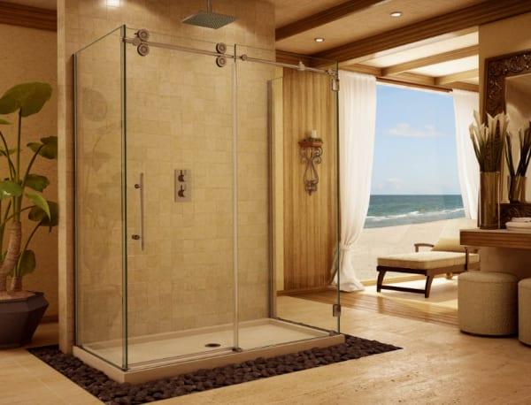 Vách kính phòng tắm đẹp, hiện đại
