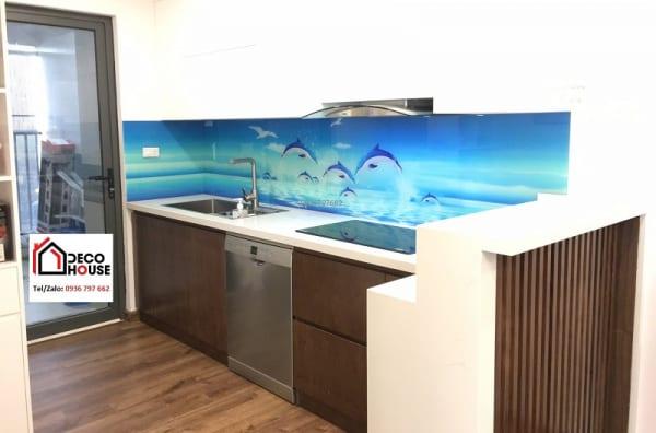 Thi công kính ốp bếp 3d tại Hà Nội