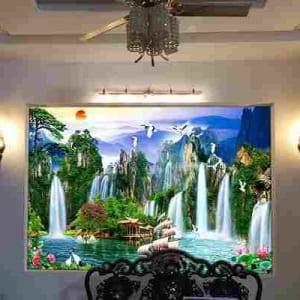 Tranh Kính phong cảnh 3D treo tường