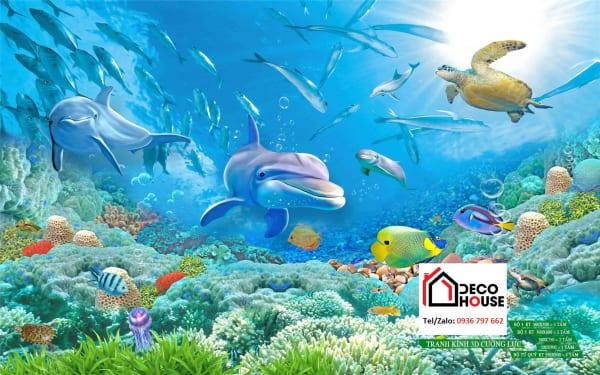 Tranh kính 3d dưới lòng đại dương