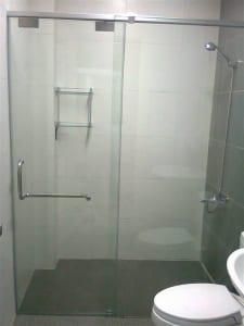 Vách kính tắm, phòng tắm kính trượt lùa treo