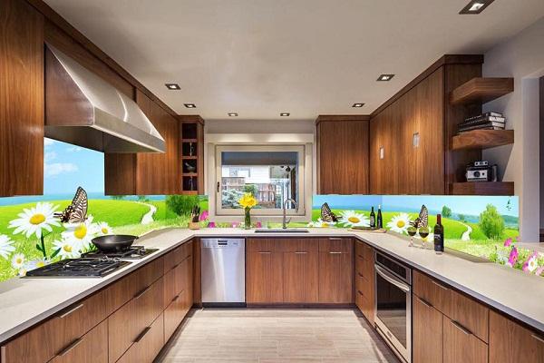 Kính bếp 3d thiên nhiên