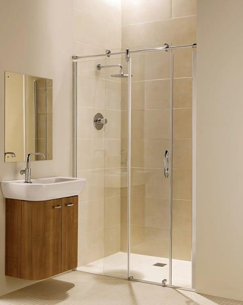 Phòng tắm kính cửa lùa đẹp