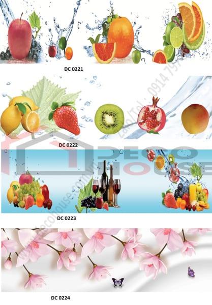Mẫu tranh kính 3d in hình trái cây