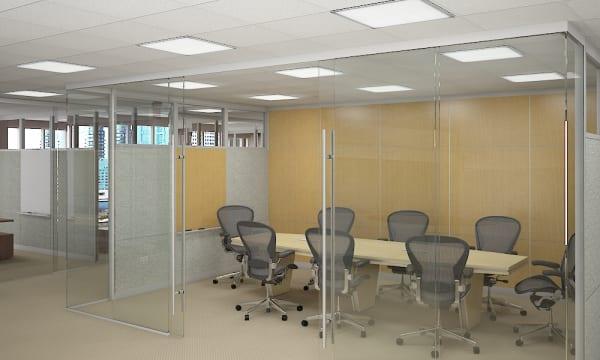 Vách kính ngăn văn phòng