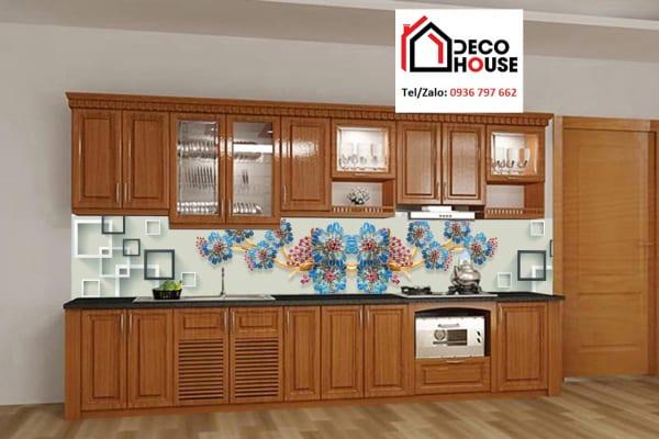 Tranh kính 3d ốp tường bếp đơn giản