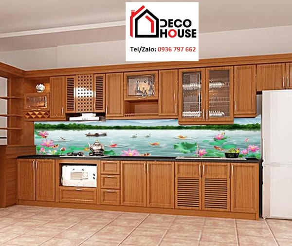 Kính ốp bếp in tranh đẹp