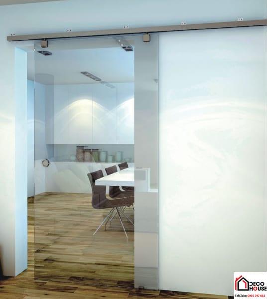 Cửa kính cường lùa 1 cánh của cửa thông phòng văn phòng