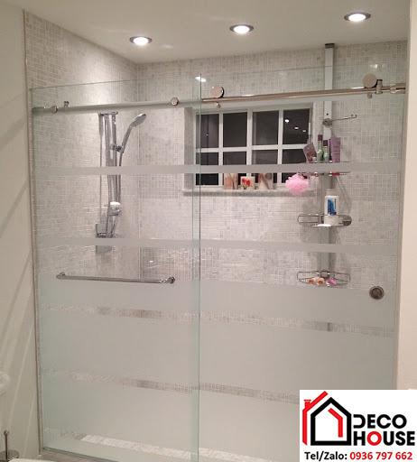 Phòng tắm kính cửa lùa 2 tấm