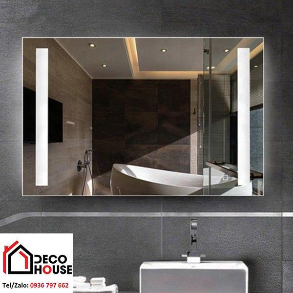 Gương soi hình chữ nhật kích thước to cho phòng tắm
