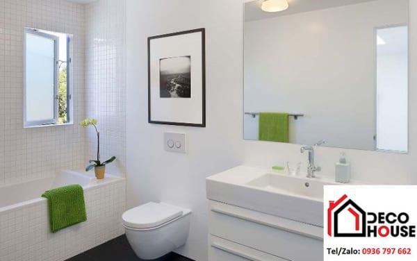 gương soi nhà tắm hình vuông