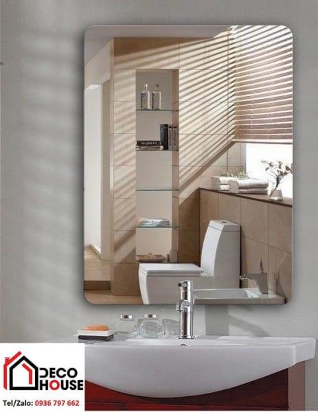 Gương soi vát cạnh hình chữ nhật cho phòng tắm