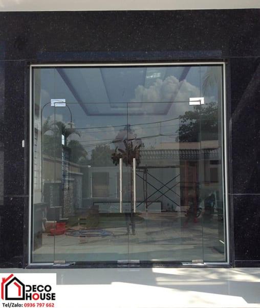 Lắp cửa kính cường lực 2 cánh Hà Nội