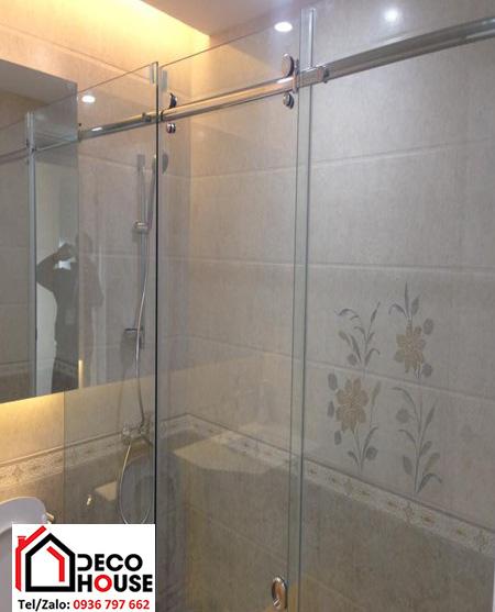 Vách kính cửa lùa nhà tắm Decohouse