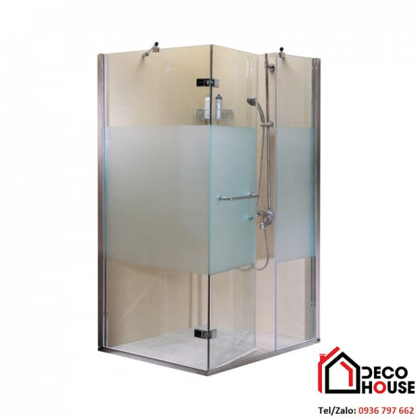 Thi công cabin tắm đứng kính mờ tinh tế