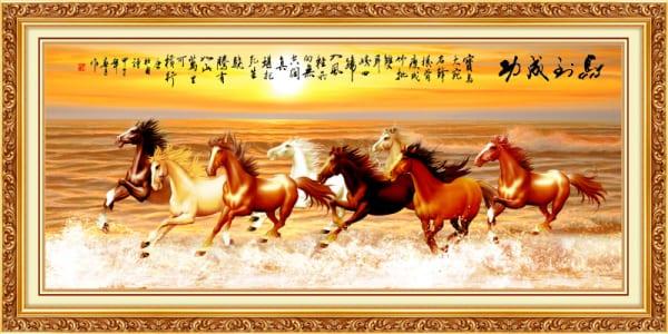 Tranh ngựa mã đáo thành công đẹp