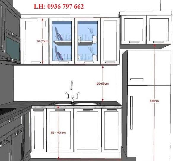 Nên làm độ dày và chiều cao kính ốp bếp khổ tiêu chuẩn bao nhiêu?