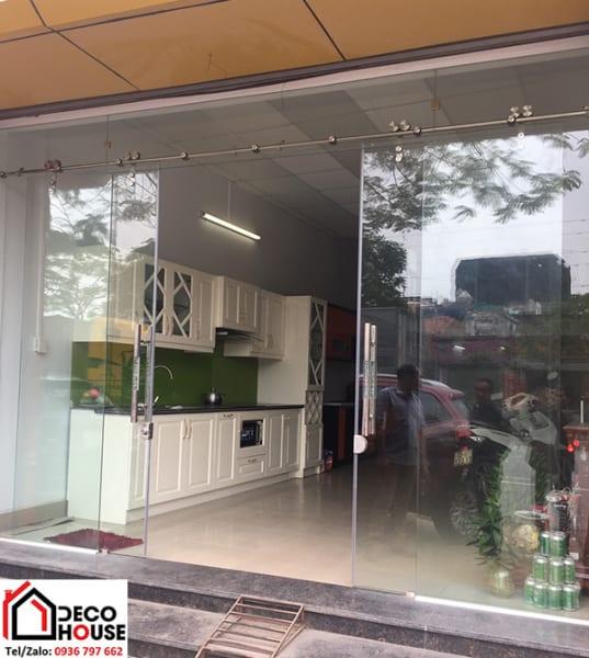 Thi công cửa kính cường lực lùa tại Hà Nội