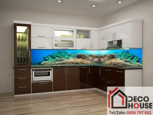 Kính bếp 3D đại dương đẹp