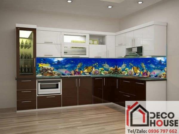Kính bếp 3D đại dương