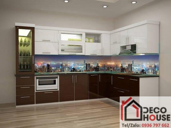 Kính bếp 3D thành phố