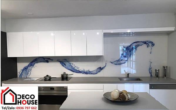 Kính ốp bếp in tranh 3D