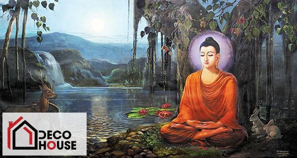 Tranh kính 3D Phật Bà Quan Âm treo tường