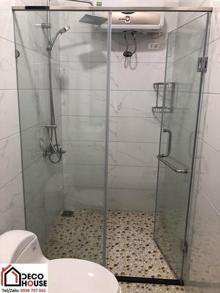 Lắp đặt phòng tắm kính cửa mở tại Đống Đa
