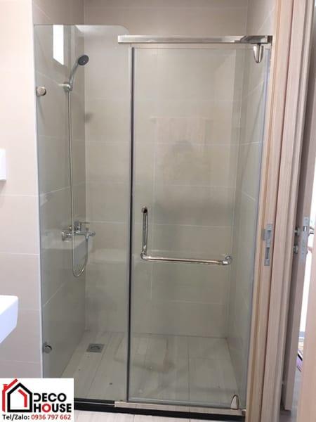 Vách tắm kính bản lề 90 độ