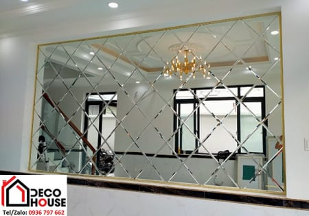 Giá gương ghép trang trí phòng khách - 0936 797 662