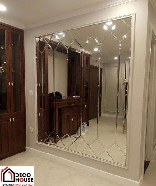 Gương ghép cao cấp phòng khách