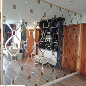 Gương ghép dán tường
