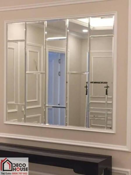 Gương ghép dán tường hình chữ nhật