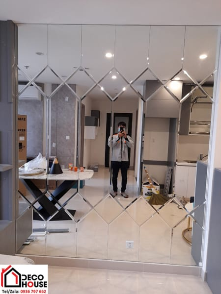 Gương ốp trang trí chung cư Hà Nội