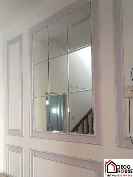 Gương ốp trang trí đơn giản