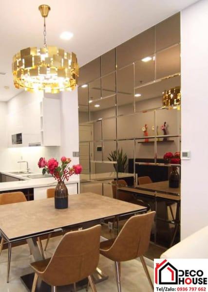 Gương ốp tường phòng bếp đẹp