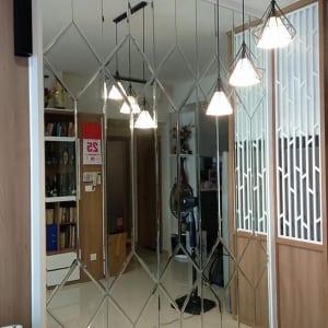 Gương Ốp Tường Phòng Khách