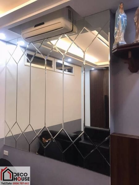 Mẫu gương trang trí dán tường