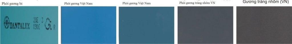 Phân biệt gương Bỉ và gương Việt Nhật, gương Việt Nam