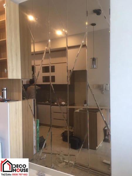 Thi công gương ốp phòng bếp tại Hà Nội